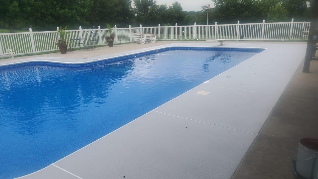 Epoxy Pool Deck - Treadwell