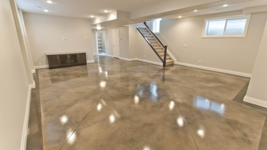 Polished Concrete Basement Treadwell