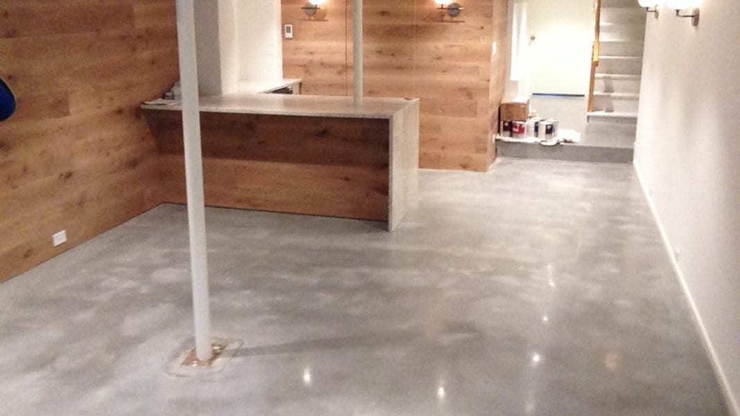 Polished Concrete Basement - Treadwell