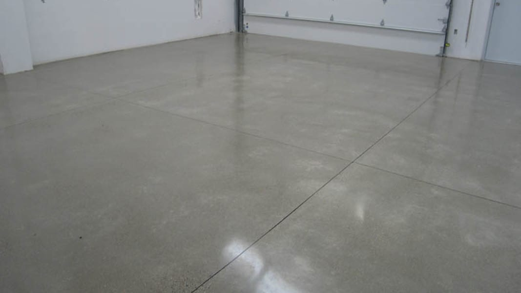 Polished Concrete Garage - Treadwell